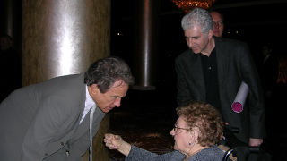 Warren Beatty meeting Sister Rose at the Oscars
