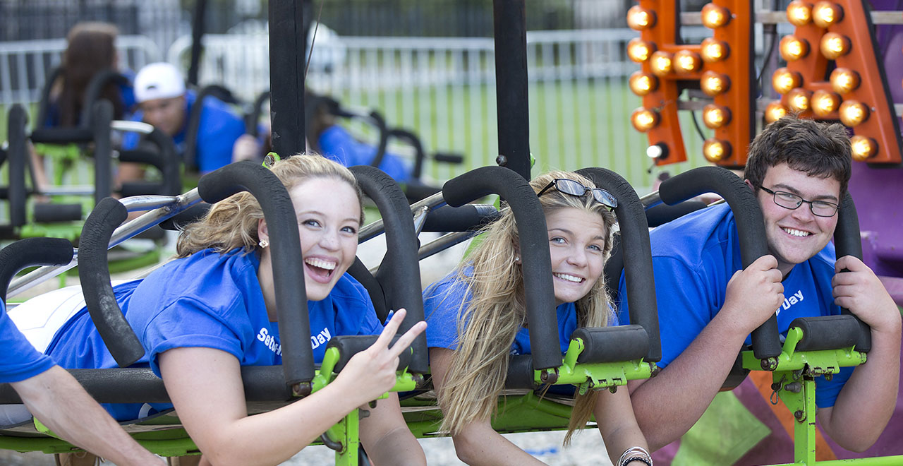 Seton Hall Students Enjoying Activities During Welcome Week