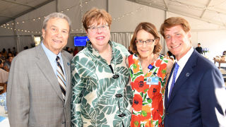 Photo of Joseph Simunovich, Interim President Mary Meehan, Dr. Bonita Stanton, and Robert C. Garrett