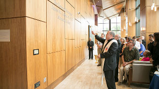 Blessing of gallery in Bethany Hall.
