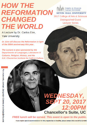 Flyer Dr. Carlos Eire Lecture