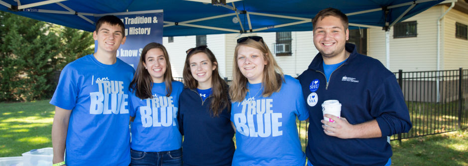 Members of SAA at the True Blue tent.