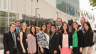 Students at the UN