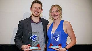 Peyton Elder and Taylor Cutcliff, Student-Athletes of the Year