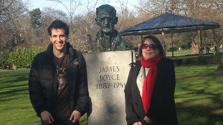 Statue erected to James Joyce.