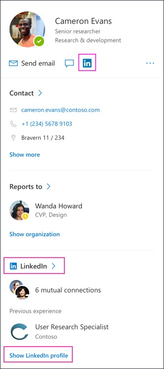 LinkedIn Office 365 Connection
