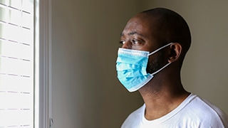 Man in a Medical Face Mask