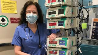Moira Kendra, nurse at Morristown Medical Center during COVID lockdown.