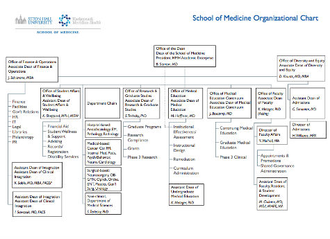 School Of Medicine Organizational Charts  Seton Hall University