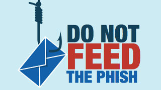 Logo for the Do Not Feed the Phish campaign.