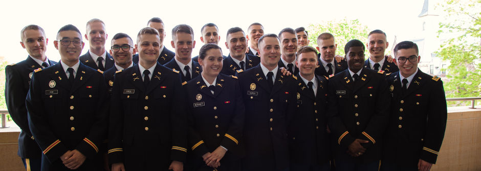 Graduates of the ROTC program.