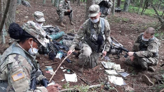 rotc training in woods basic camp