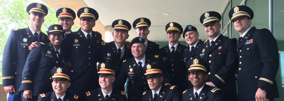 Class of graduating ROTC members.