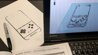 Using Tinkercad to create a 3d shape from a 2d sketch