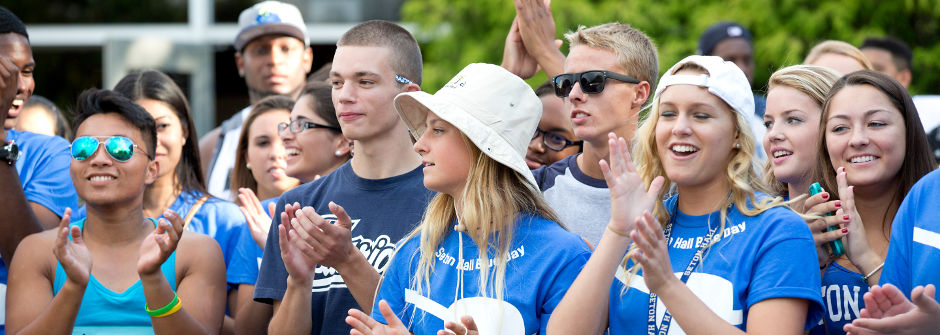 An image of students at Blue Day.
