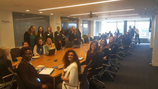 Diplomacy students in a conference room at the World Bank Group.