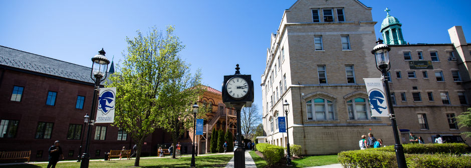 Summer on the Seton Hall campus.
