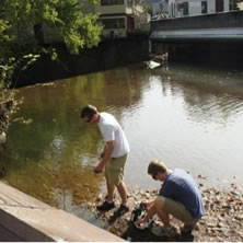 Student Participation in Faculty Research - Work in river