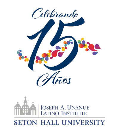 Logotipo conmemorativo del 15 aniversario del Instituto Joseph Unanue