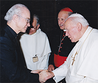 Rev. Dr. Lawrence E. Frizzell with Pope Saint John Paul II