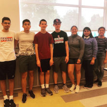 High School Students Participating in Giant Leap Summer Science Workshop Robotics Week