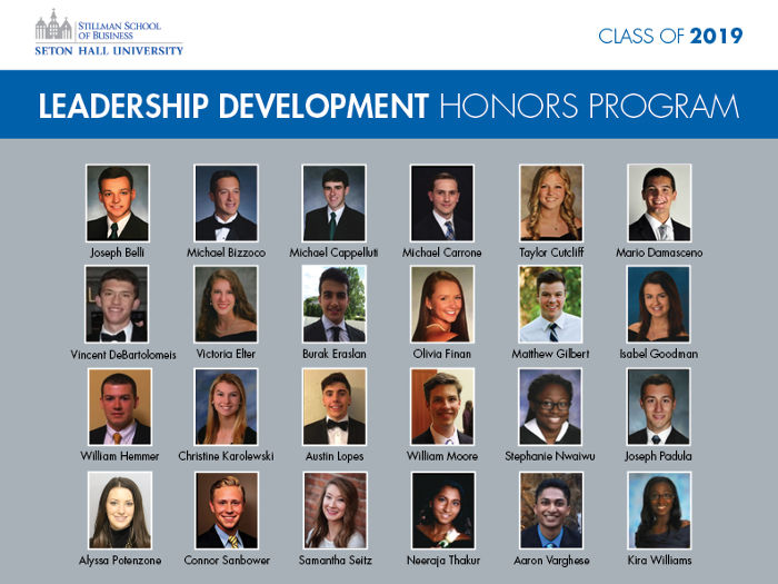 Leadership Development Honors Program, Class of 2019
