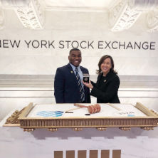 Chris Lucas Presenting Coin at New York Stock Exchange