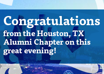 Houston Texas Alumni Chapter Congratulates the Honorees