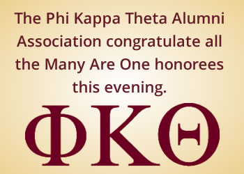 Phi Kappa Theta Many Are One Ad