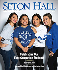 Fall 2018 Seton Hall Magazine Cover