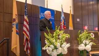 Photo of former Seton Hall President Monsignor Robert Sheeran