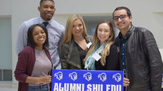 Photo of PRSSA members