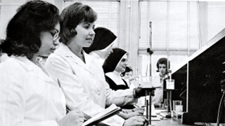 Photo of Seton Hall's old chemistry lab