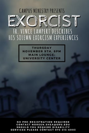 Exorcist lecture poster