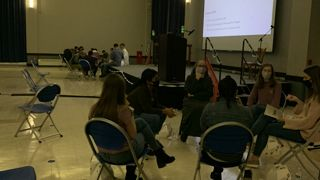 Students unpack worship and formation in a small group at SEEK21.