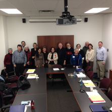 Faculty and administrators attending the University Seminar on Mission.