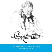 Picture of Fall/Winter 2017 issue of Chesterton Review