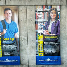 Student Banners Hanging in Jubilee Hall