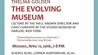 The Evolving Museum lecture Thelma Golden