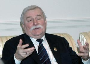 Lech Walesa answered questions from Whitehead School of Diplomacy students after his speech to the University community.