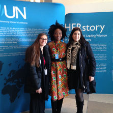 Nahnsejay Mauwon and Gabriell Pascarella at the United Nations 61st Commission on the Status of Women .