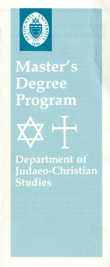 Founding of Department of Jewish-Christian Studies offering Master's degree in that subject area.