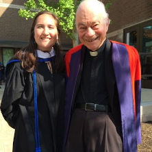 Jordyn Barry and Father Lawrence Frizzell