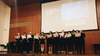 University Chamber Choir Singing, at Sister Rose's Passion Screening